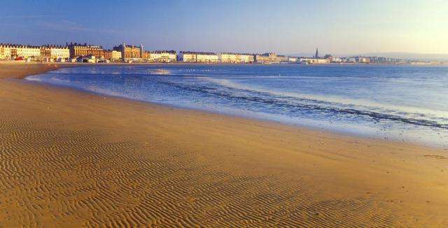 Weymouth beach in Dorset