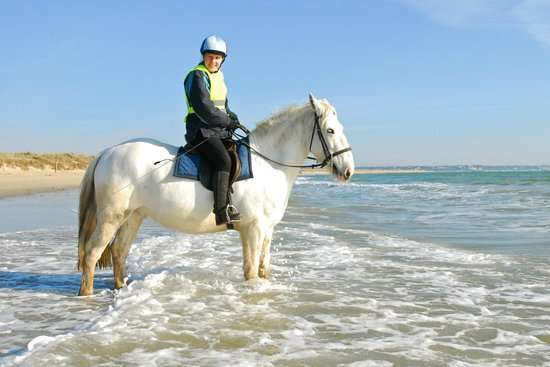 Riding on Studland Beach