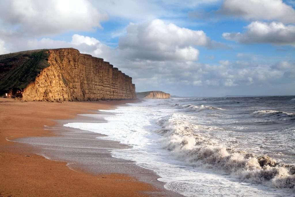 West Bay Beach near Bridport, Dorset