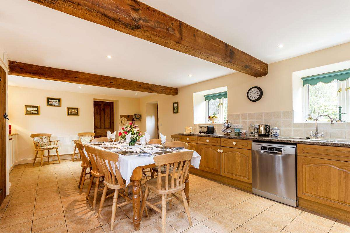 Country kitchen in Dorset cottage