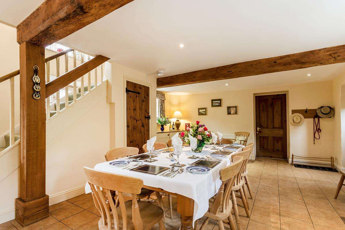 Dining area in Dorset cottage