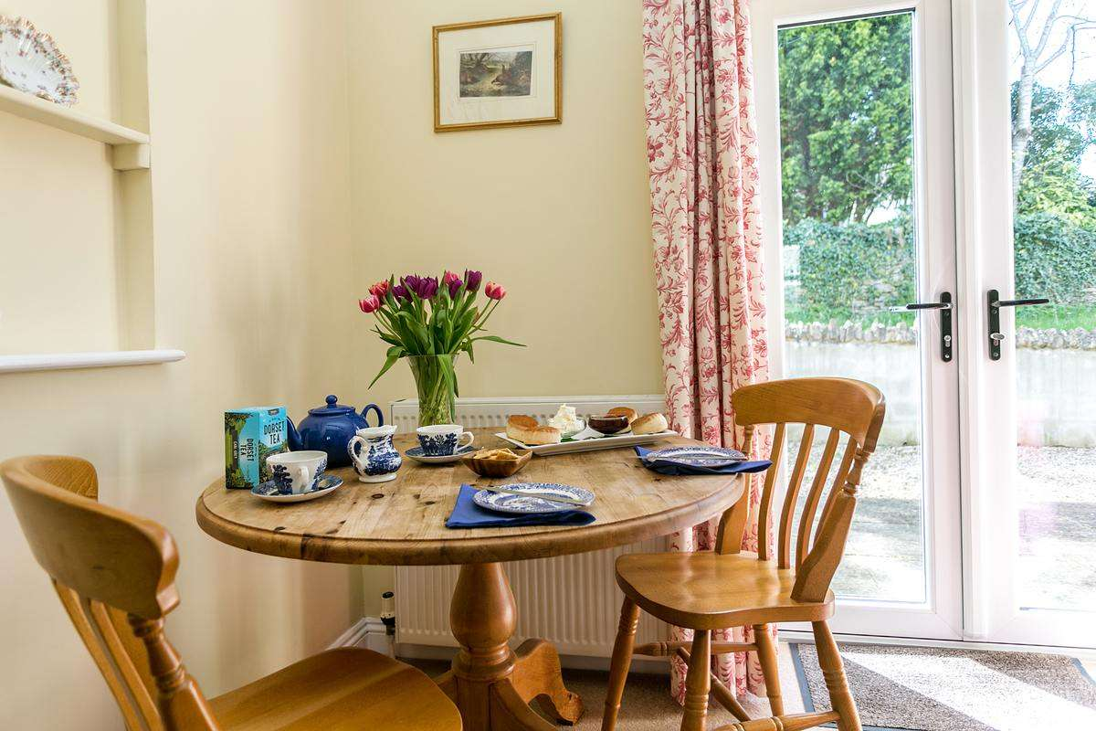 Dining table with afternoon tea
