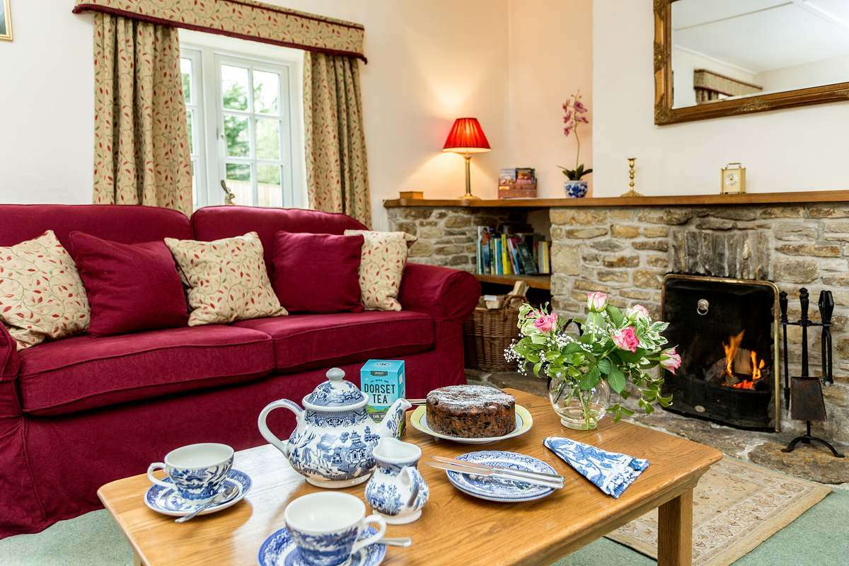 Afternoon tea in cottage