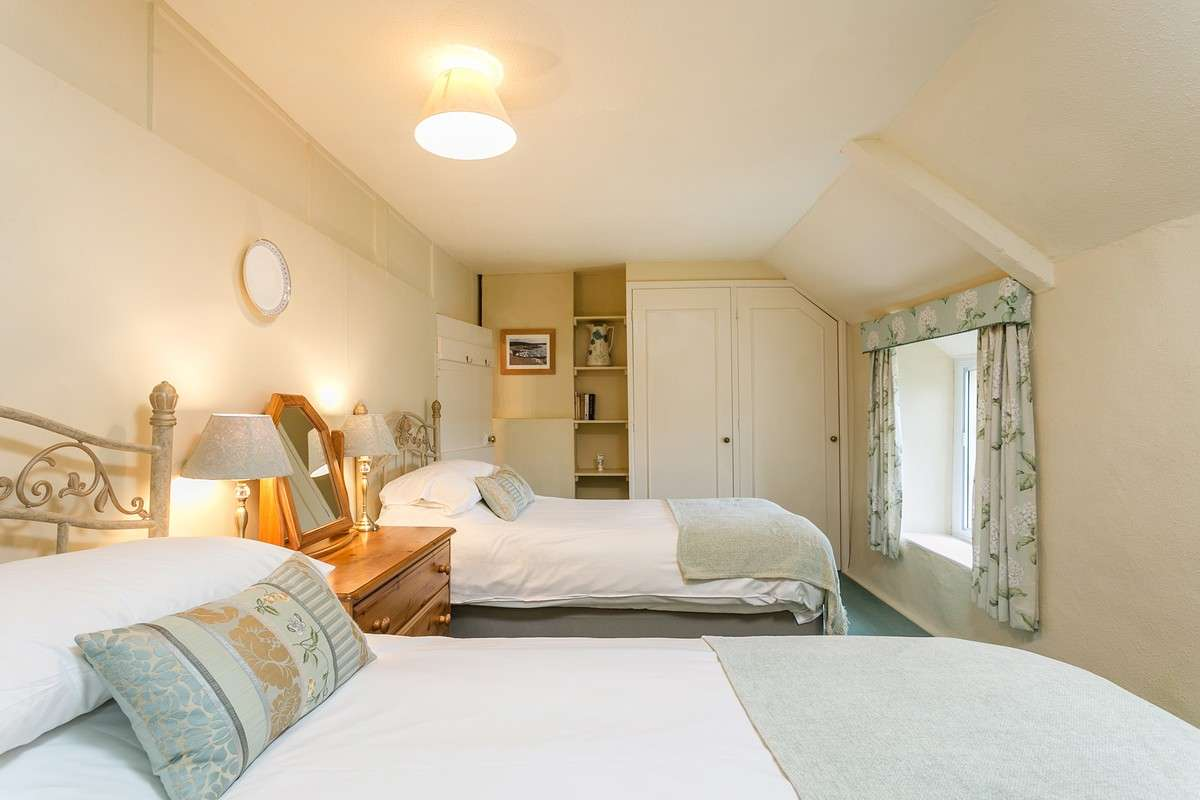 Holiday rental bedroom in Dorset